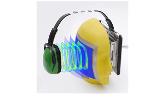 Conforto e atenuação do protetor auricular tipo concha